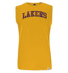 NBA Los Angeles Lakers Grey Melange Printed Sleeveless T-Shirt