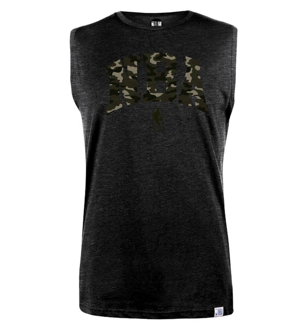 NBA Camo Chest Print Sleeveless T-Shirt