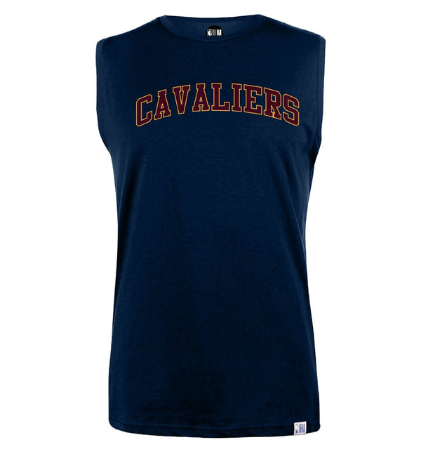 NBA Cleveland Cavaliers Navy Printed Sleeveless T-Shirt
