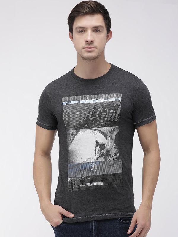 YWC Charcoal Printed T-shirt