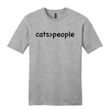 "Load image into Gallery viewer, ""Cats > People"" Soft Tee"