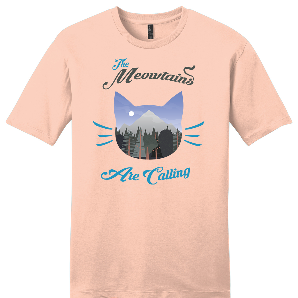 """Meowtains Are Calling"" Soft Tee"