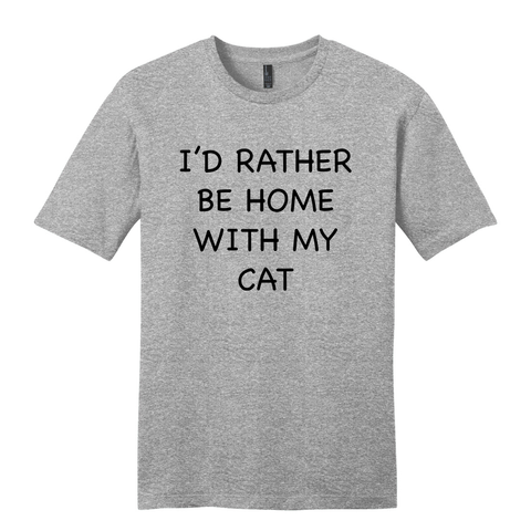 """Rather Be With My Cat"" Soft Tee"