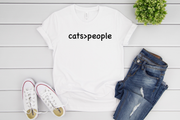"""Cats > People"" Soft Tee"