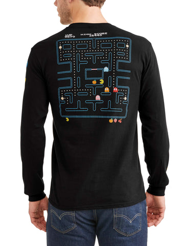 Men's Long Sleeve Pacman Graphic Tee
