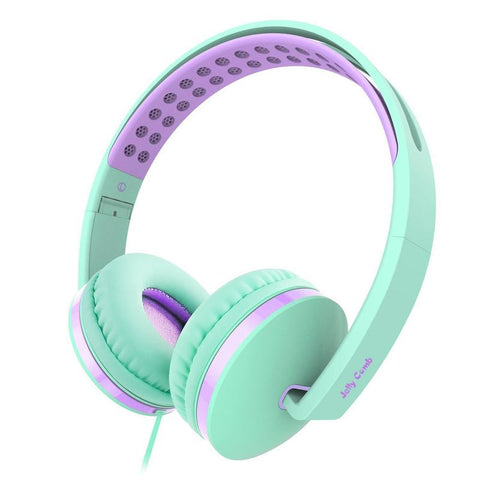 On Ear Headphones with Mic, Jelly Comb Foldable Corded Headphones Wired Headsets with Mic