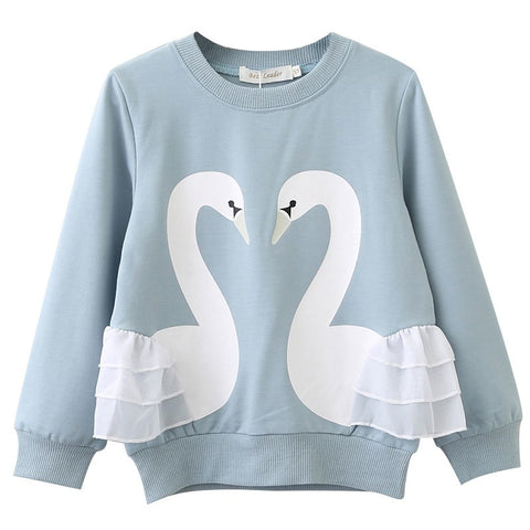 Children Clothes 2018 New Fashion Style Animals Pattern Cartoon Printed Baby Boys Girls for 3-7Y