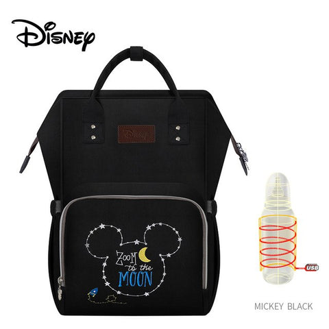 Disney Mummy Bag Multifunction Large Capacity Double Shoulder Travel Backpack Baby Handbag Bottle Bag Fashion Insulation Bags