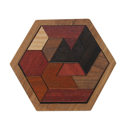 Funny Wood Geometric Abnormity Shape Puzzle Wooden Toys Tangram/Jigsaw
