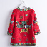 Girls Horse Pattern High-Quality Dress Sizes 4-14