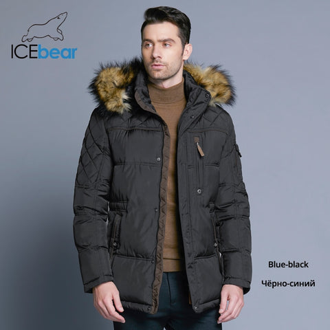 ICEbear 2018 Fashion Winter New Jacket Men Coat Parka Medium-Long 15MD927D