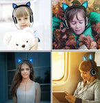 Led Cat Ear Headphones For Kids
