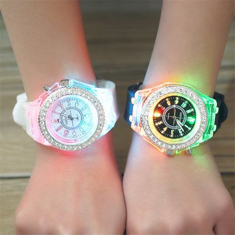 Kids Colorful Light up Glow in the Dark Electronic LED Watches