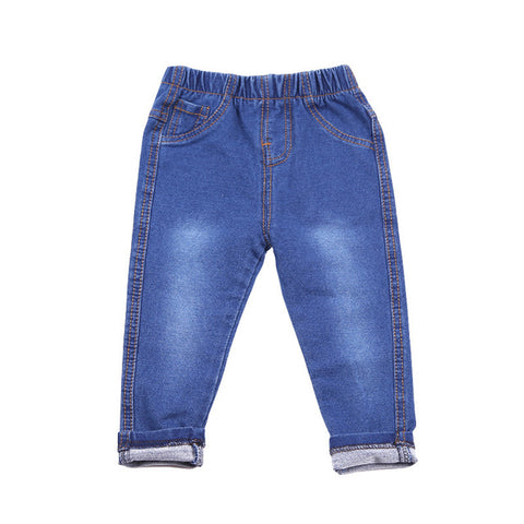 Children Elastic Waist  Jeans Boys & Girls Denim Trousers
