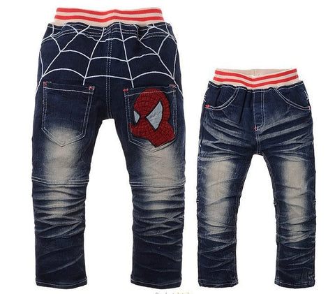 Boys Spider Man Inspired Design Pants Jeans For Boys