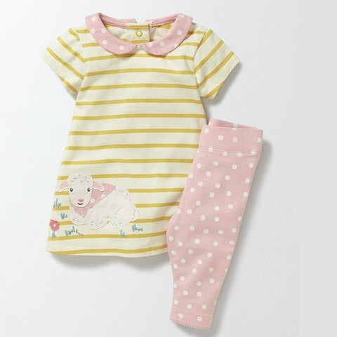 VIDMID girls clothing set baby girls clothes suits for girls summer t-shirt + pants children's clothing for baby cute cotton