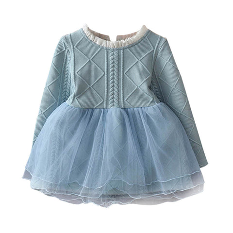 Long Sleeve Baby Girl/Toddler Cotton Tutu Dress Sizes 3T -7
