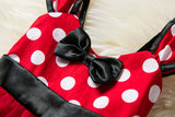 Minnie Mouse Polka Dot Inspired Dress For Little Girls