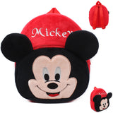 Plush Character School Backpack for Toddlers and Preschoolers Mickey,Minnie,Superman & Hello Kitty