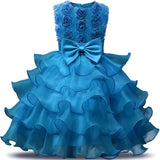 Girl's Sleeveless Wedding Flower Girl Princess Dress