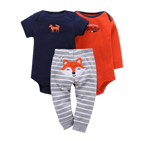 3Pc Baby Clothes Set Fox