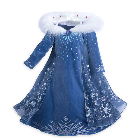 Snow Queen Princess Anna& Elsa Dress Costume
