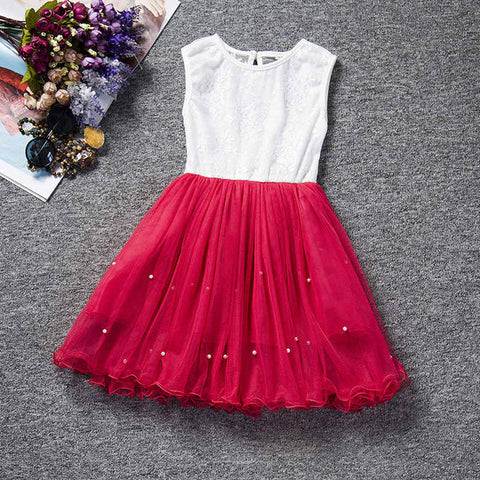 Summer Baby Party Dress For Girls Lace Flower Wedding Kids Tutu Dresses Children Princess Party Dresses 3-7 years Sundress Kids