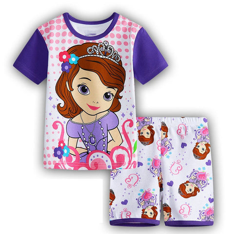 Sofia The First, Hello Kitty , Minnie Mouse and other Characters Toddler Girls Pajama 2 Pc Outfit