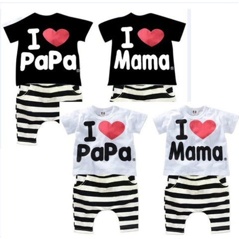 T-shirt Striped Pants For Boy and Girls
