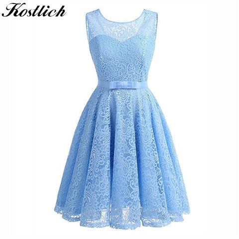 Lace Summer Dress Sleeveless 1950's Vintage Style Dress