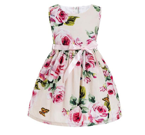 Vintage Floral Printed Sundress Dresses
