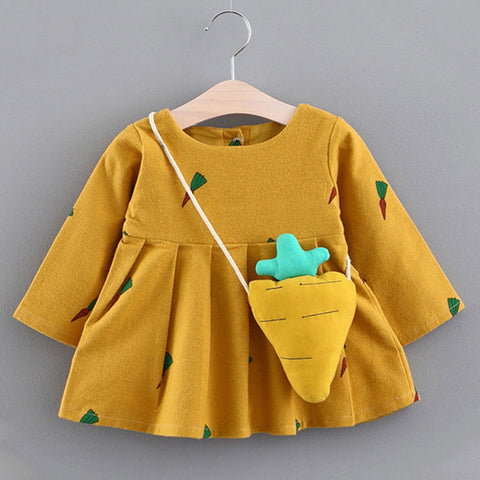 Long Sleeve Fall  2pc Dress Little Baby 6M to 24M