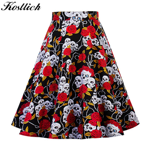 Style High Waist Swing Skirts