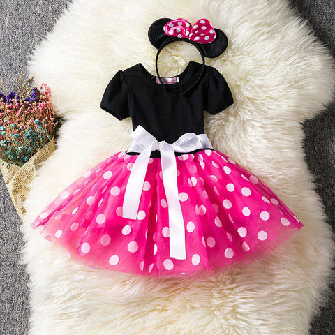Pink Ballet Polka Dot Minnie Mouse Dress