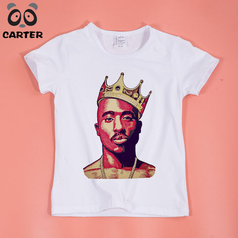 Children Hip Hop Tupac 2pac Design T-Shirt Boys and Girls Comfortable  T Shirt Kids Baby Clothing