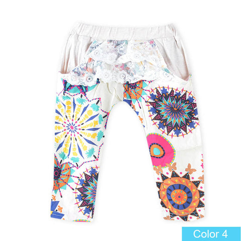 Printed Design Pants Summer Pants For Girls