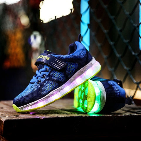 Glowing Sneakers Led Children Lighting Shoes Boys Girls illuminated Luminous Sneaker