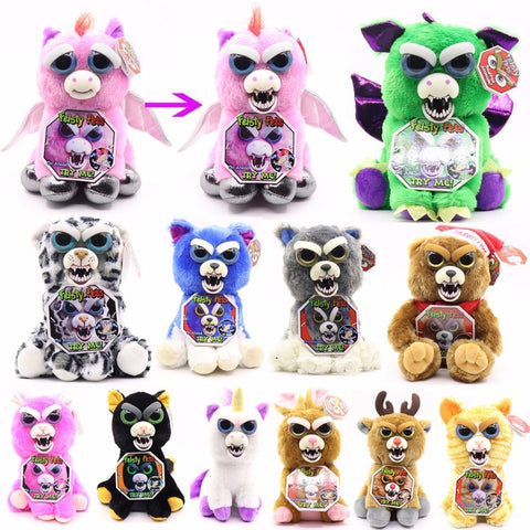 Change Face Feisty Pets Plush Toys Funny Novelty Gift Stuffed Animal Doll