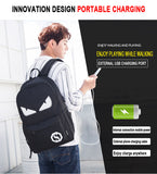Anime Glow in Dark Anime School Backpack with USB Charging Port and Lock