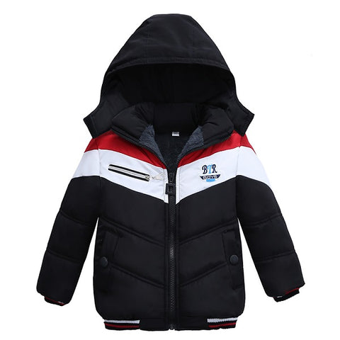 arm Hooded Winter Jackets for Boy Girls