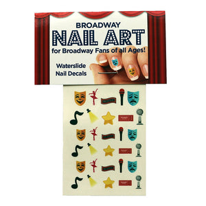 Broadway Nail Art Water Slide Nail Art Decals Set - 30 Nail Decals