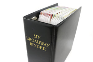My Broadway Binder: Stylish Broadway Playbill Binder Organizer