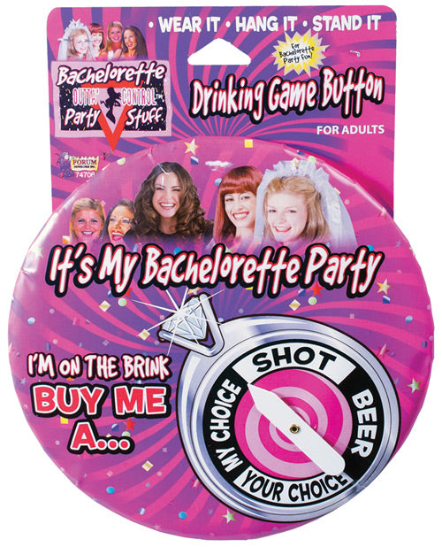 Bachelorette Drinking Game Button