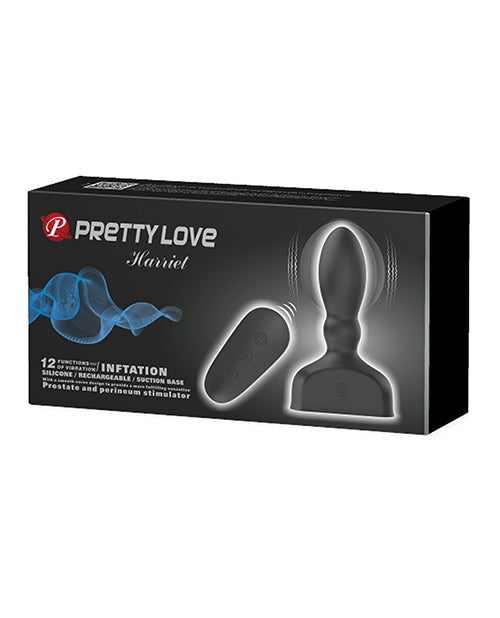 Pretty Love Harriet Inflating Butt Plug - Black
