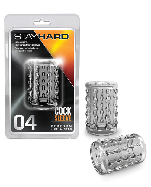 Blush Stay Hard Cock Sleeve 04 - Clear