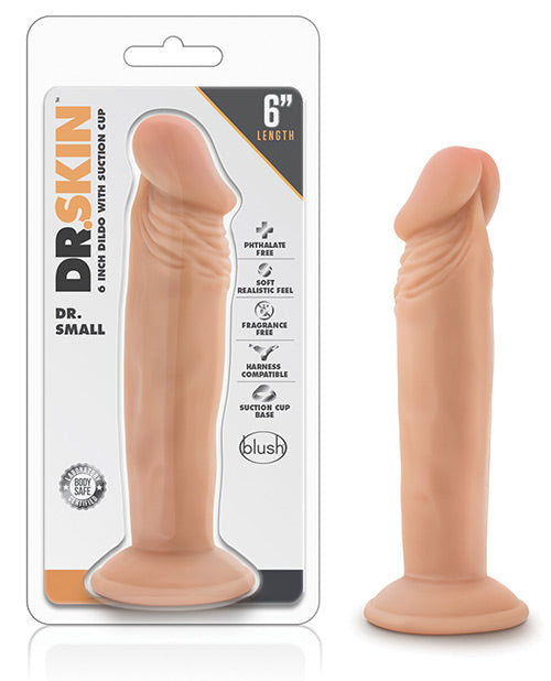 "Blush Dr. Skin Dr. Small 6"" Dildo"