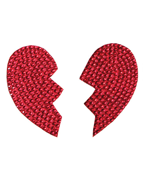 Rhinestone Broken Heart Reusable Pasties