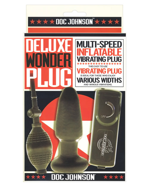 Deluxe Wonder Plug Inflatable Vibrating Butt Plug