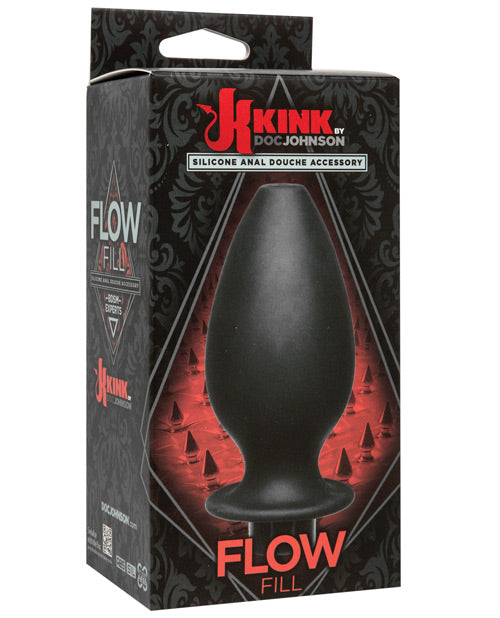 Kink Flow Silicone Anal Douche Accessory Full Flush Out