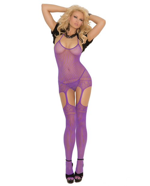 Halter Neck Suspender Bodystocking with Cut Out Design